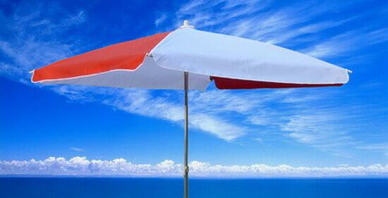 海邊太陽傘