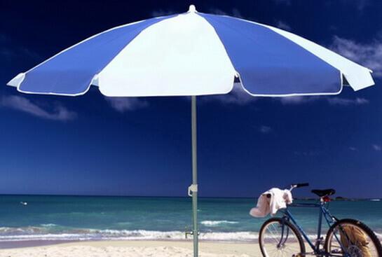 沙灘傘,藍白海灘傘