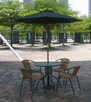 露天桌椅遮陽傘